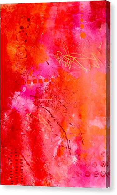 Big Red Canvas Print - Turn Up The Heat by Nancy Merkle