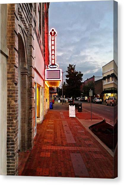 Turnage Theater Grand Opening Canvas Print