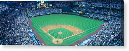 Pitching Canvas Print - Turner Field At Night, World Champion by Panoramic Images