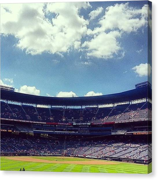 Atlanta Braves Canvas Print - #turnerfield #atlanta #braves by Alyson Schwartz
