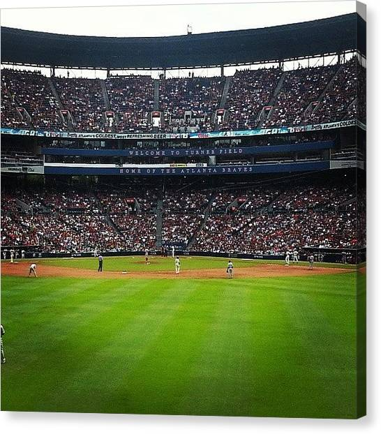 Atlanta Braves Canvas Print - #turnerfield #atlanta #braves #choptober by Alyson Schwartz
