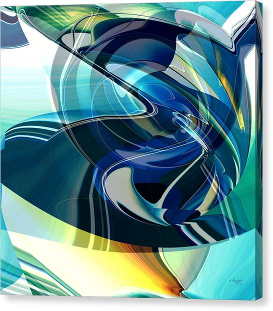 Canvas Print featuring the digital art Turning Point by rd Erickson