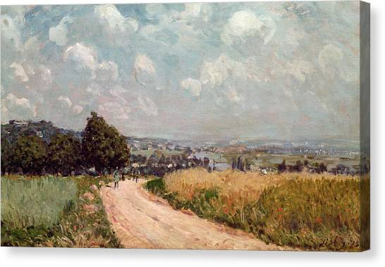 French Signs Canvas Print - Turning Road by Alfred Sisley