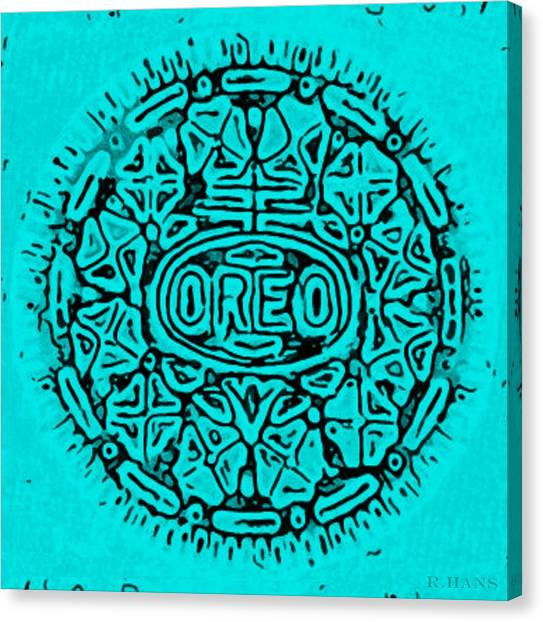 Nabisco Canvas Print - Turquoise Oreo by Rob Hans