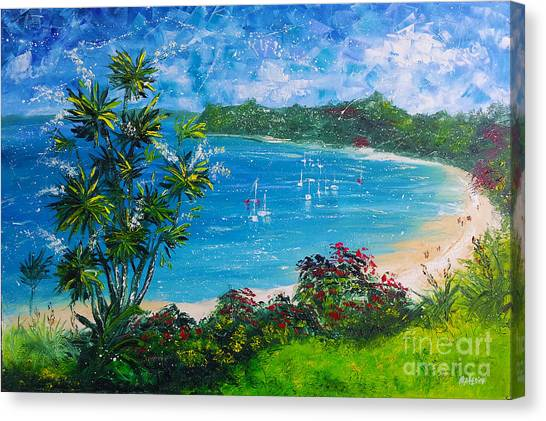 Turquoise Bay On A Sunny Day Canvas Print