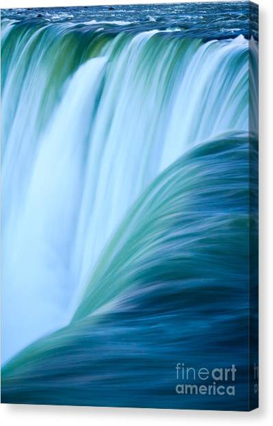 Turquoise Blue Waterfall Canvas Print