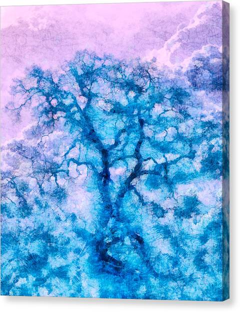 Turquoise Oak Tree Canvas Print