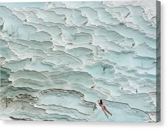 Bikini Canvas Print - Turquoise Paradise by Igor Tinak