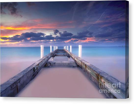 Beach Sunsets Canvas Print - Turquoise Paradise by Marco Crupi