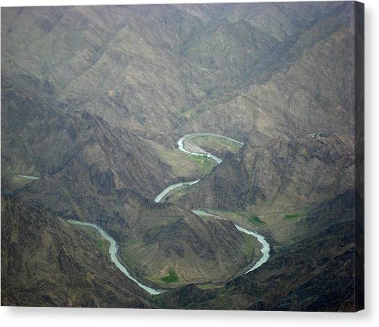 Hindu Kush Canvas Print - Turquoise River Deep In The Hindu Kush Mountains by Jetson Nguyen