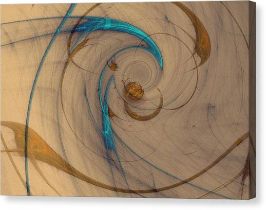Turquoise Spiral Canvas Print