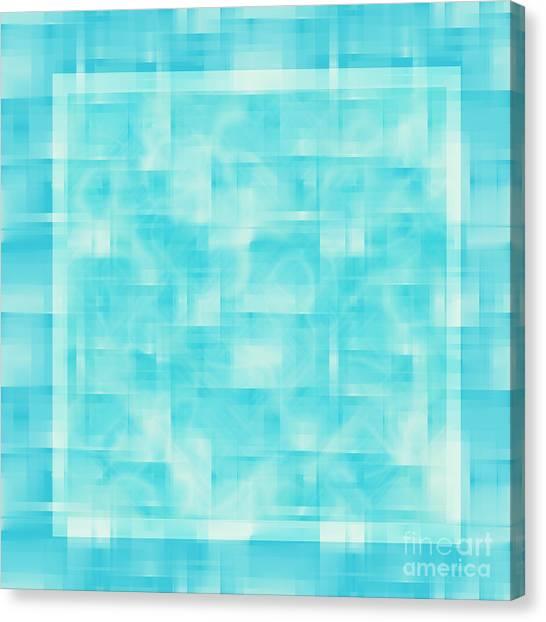 Pixelated Canvas Print - turquoise square 12-November-2012 by Igor Kislev