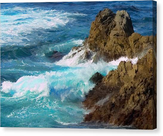 Turquoise Surf II Canvas Print