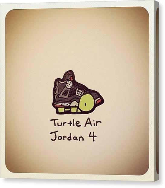 Turtles Canvas Print - Turtle Air Jordan 4 by Turtle Wayne