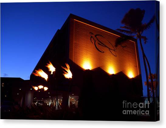 Turtle Bay Resort After Sunset Canvas Print