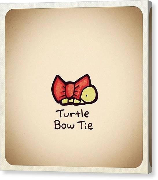 Turtles Canvas Print - Turtle Bow Tie by Turtle Wayne