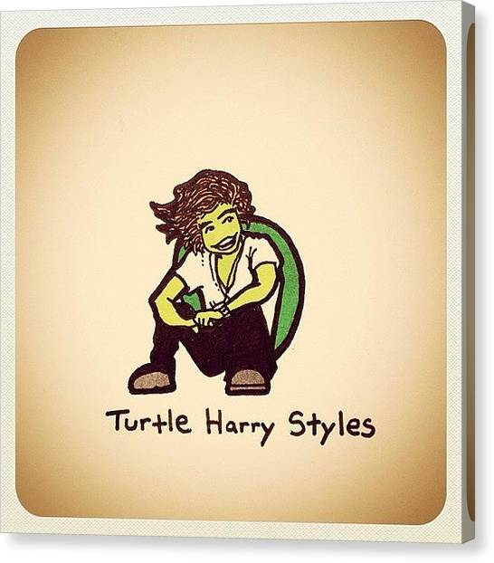 Turtles Canvas Print - Turtle Harry Styles by Turtle Wayne