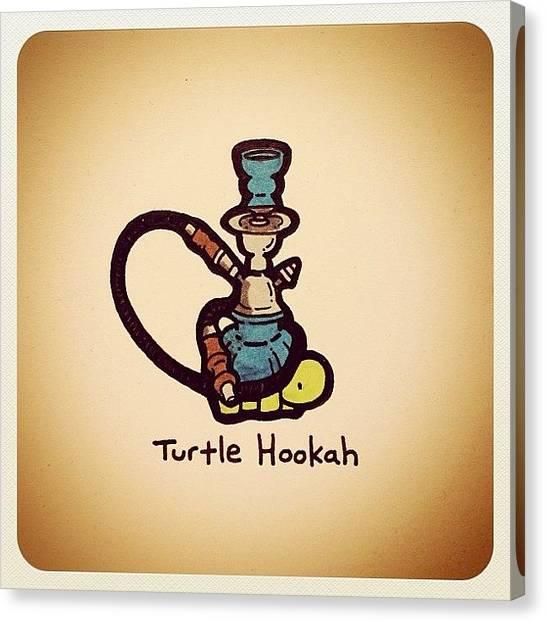 Turtles Canvas Print - Turtle Hookah by Turtle Wayne