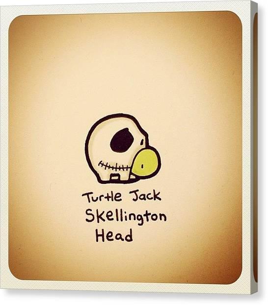 Reptiles Canvas Print - Turtle Jack Skellington Head by Turtle Wayne