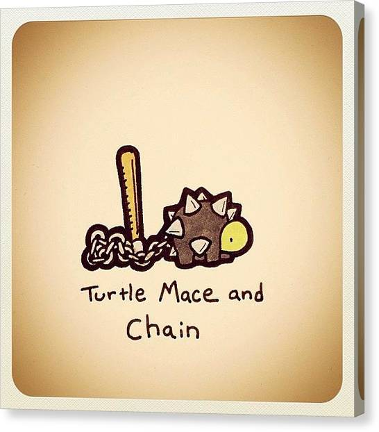Reptiles Canvas Print - Turtle Mace And Chain by Turtle Wayne