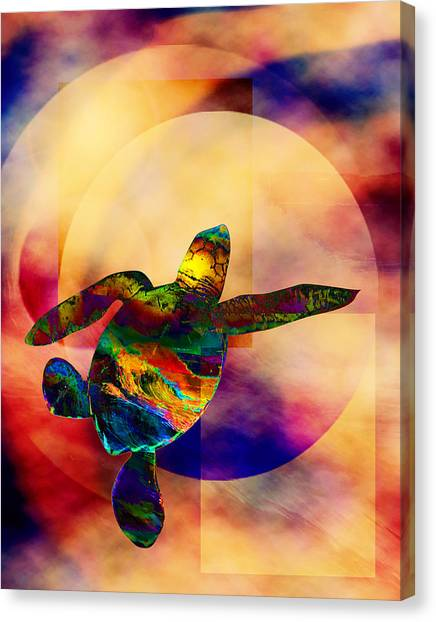 Turtle Medicine Canvas Print by Bruce Manaka