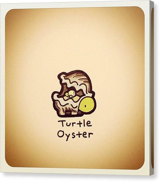 Reptiles Canvas Print - Turtle Oyster by Turtle Wayne