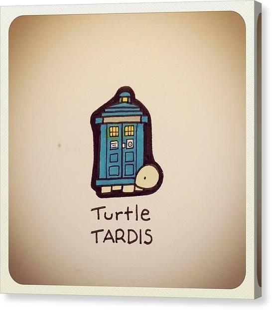 Turtles Canvas Print - Turtle Tardis #turtleadayjuly by Turtle Wayne