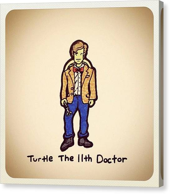 Turtles Canvas Print - Turtle The 11th Doctor by Turtle Wayne