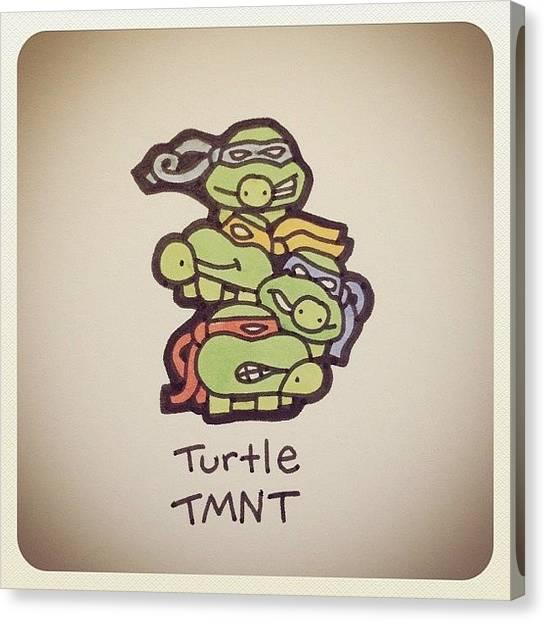 Reptiles Canvas Print - Turtle Tmnt #turtleadayjune by Turtle Wayne