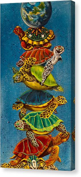 Susan Canvas Print - Turtles All The Way Down by Susan Culver