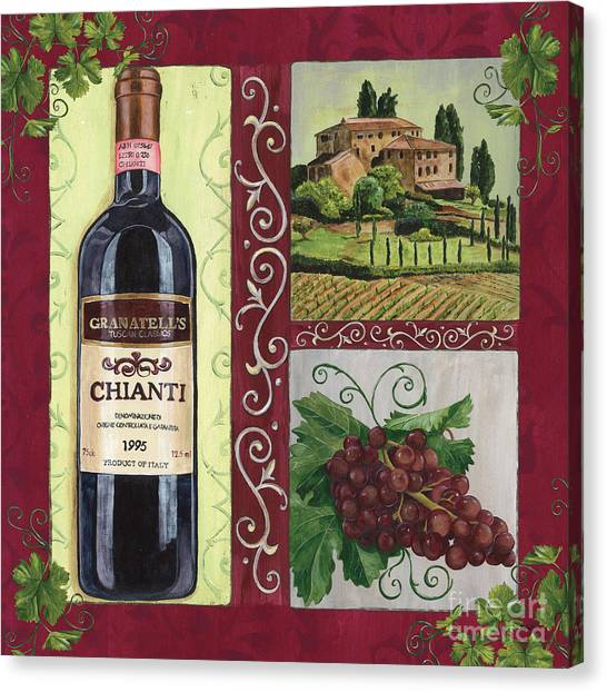 Winery Canvas Print - Tuscan Collage 1 by Debbie DeWitt