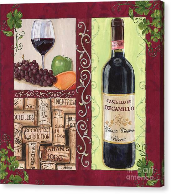 Winery Canvas Print - Tuscan Collage 2 by Debbie DeWitt