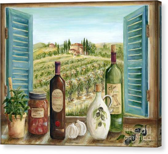 Olive Oil Canvas Print - Tuscan Delights by Marilyn Dunlap