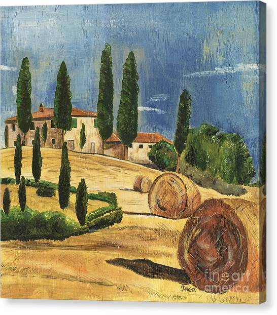 Cypress Canvas Print - Tuscan Dream 2 by Debbie DeWitt