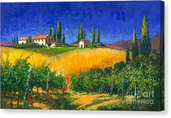Tuscan Evening Canvas Print