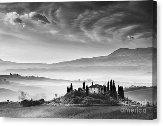 World Heritage Site Canvas Print - Podere Belvedere 1 by Rod McLean