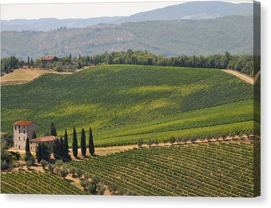 Tuscan Hillside Canvas Print