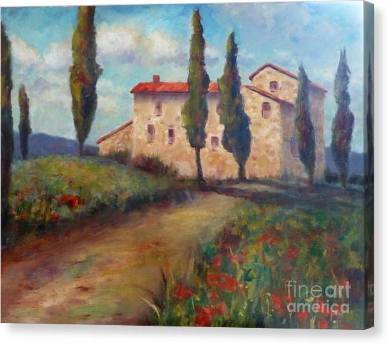 Tuscan Home Canvas Print