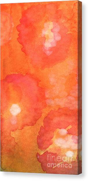 Abstract Rose Canvas Print - Tuscan Roses by Linda Woods