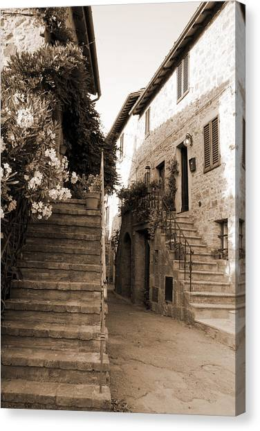 Tuscan Stairways 2 Canvas Print
