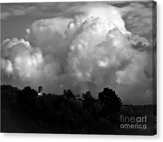 Tuscan Storm Rising From The Valley Canvas Print
