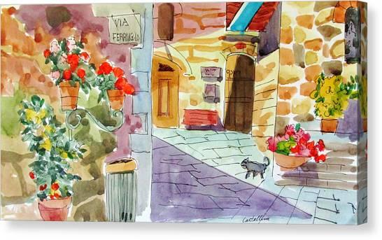 Tuscan Street Scene Canvas Print