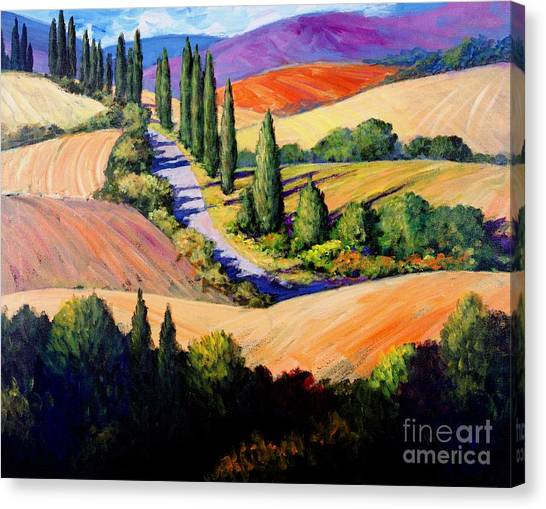 Artist Michael Swanson Canvas Print - Tuscan Trail by Michael Swanson