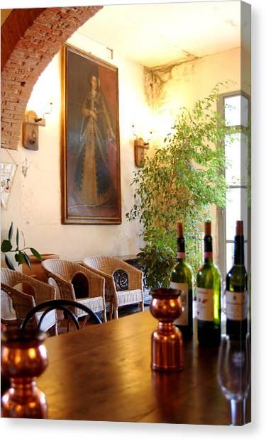 Italian Rennaissance Canvas Print - Tuscan Villa Still Life by Sharon Blanchard