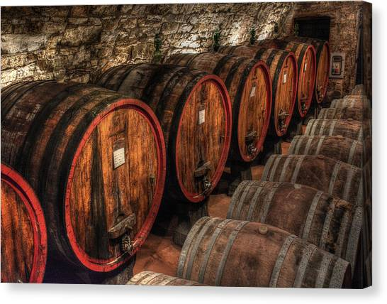 Tuscan Wine Cellar Canvas Print