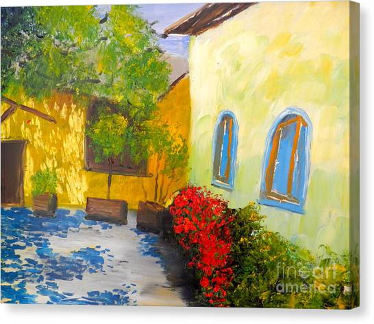 Tuscany Courtyard 2 Canvas Print