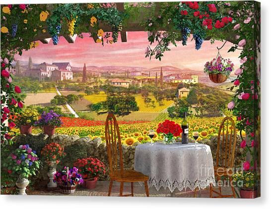 Fresco Canvas Print - Tuscany Hills by Dominic Davison