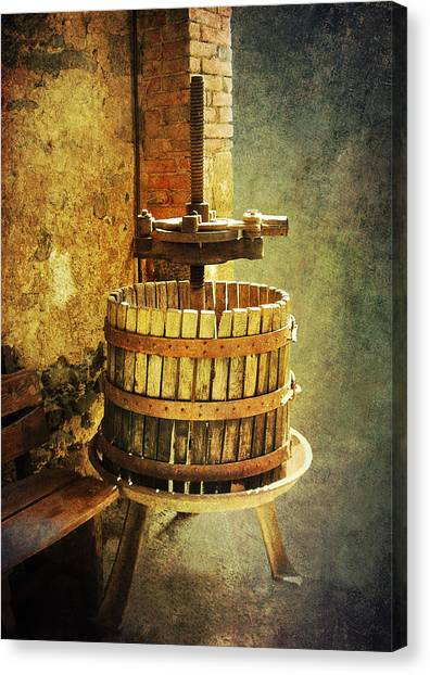 Tuscany Wine Barrel Canvas Print
