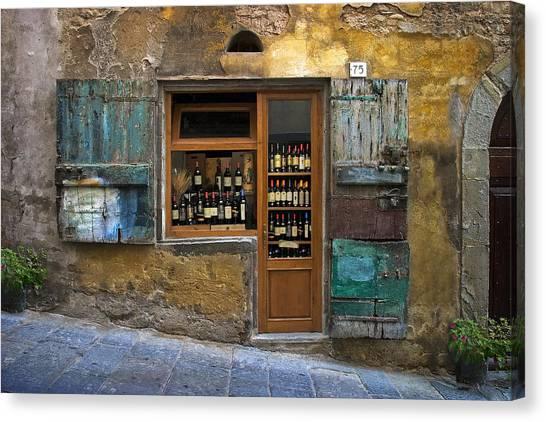 Italy Canvas Print - Tuscany Wine Shop by Al Hurley