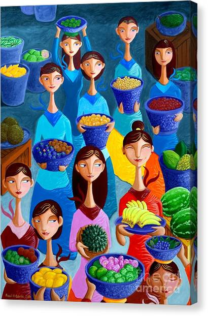 Painters Canvas Print - Tutti Frutti by Paul Hilario